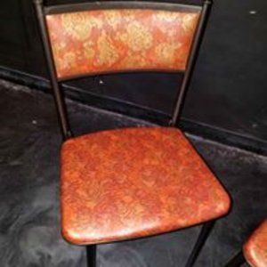 Other - (2) Rare Vintage Cosco Red Paisley Folding Chairs